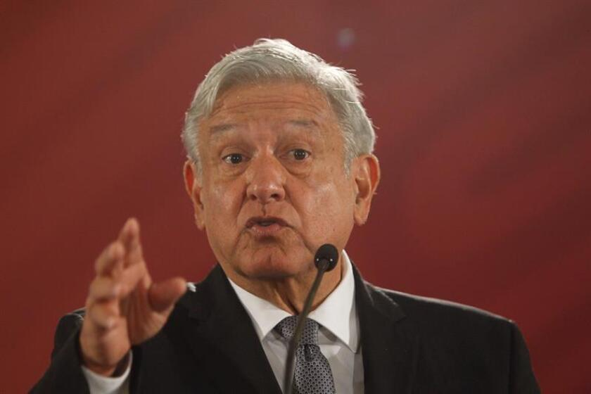 "Mexican President Andres Manuel Lopez Obrador on Wednesday defended his choice of writer Paco Ignacio Taibo II as head of the Economic Culture Fund (FCE), despite a controversial comment made by the writer that the head of state himself described as ""unfortunate."" Mexico City, Mexico, Dec. 5, 2018. EPA-EFE/Sashenka Gutiérrez"