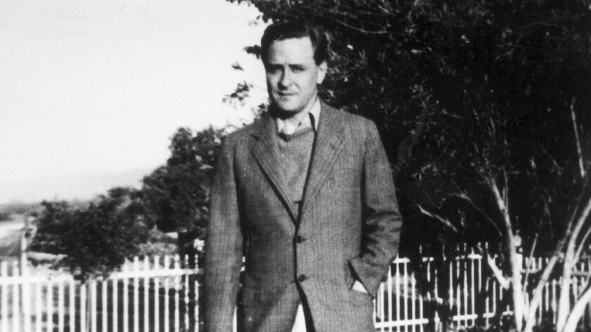 F. Scott Fitzgerald in L.A. in 1939. His life was changed the day after Hemingway's screening.