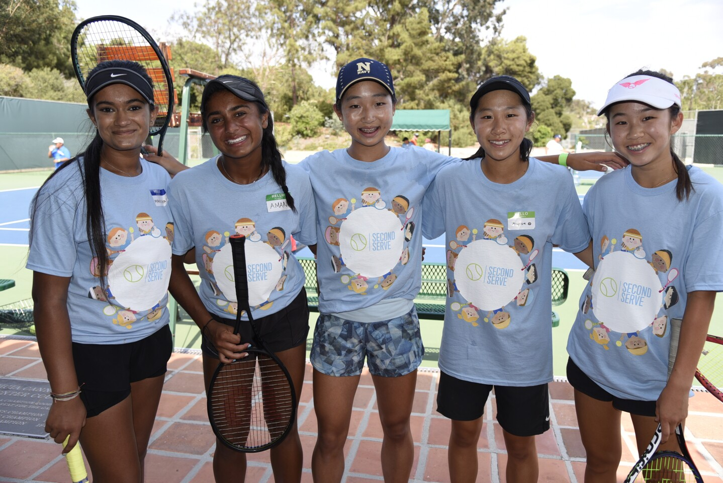 Mahima, Second Serve co-founder Amani Shah, Rachel, Alyssa, Ava