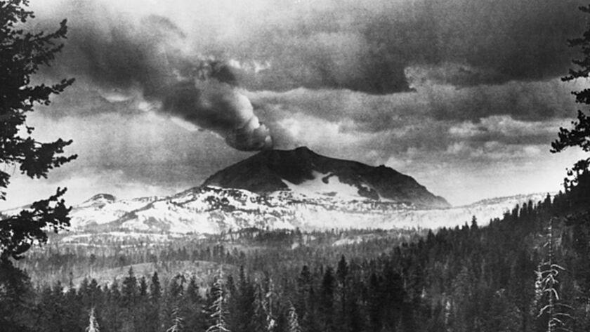 Lassen Peak Erupting