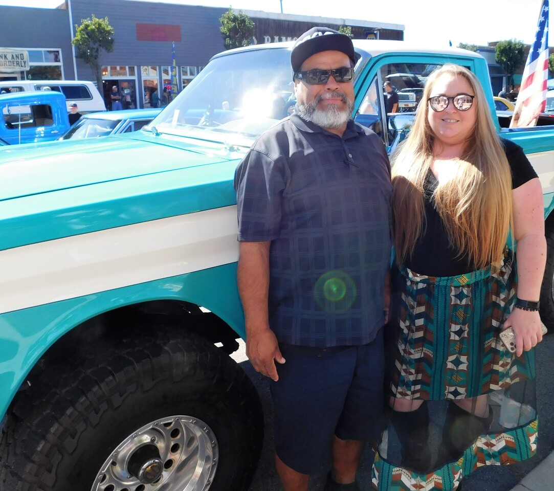 Ramona residents David Wolf Vasquez and Samantha Fink were among the attendees at the 2021 AutoFest.