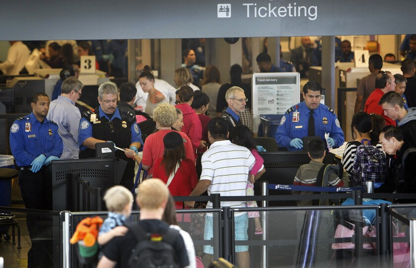 The wait times for passengers getting screened at TSA checkpoints have dropped at Los Angeles International Airport over the last three years, according to an analysis by The Times.