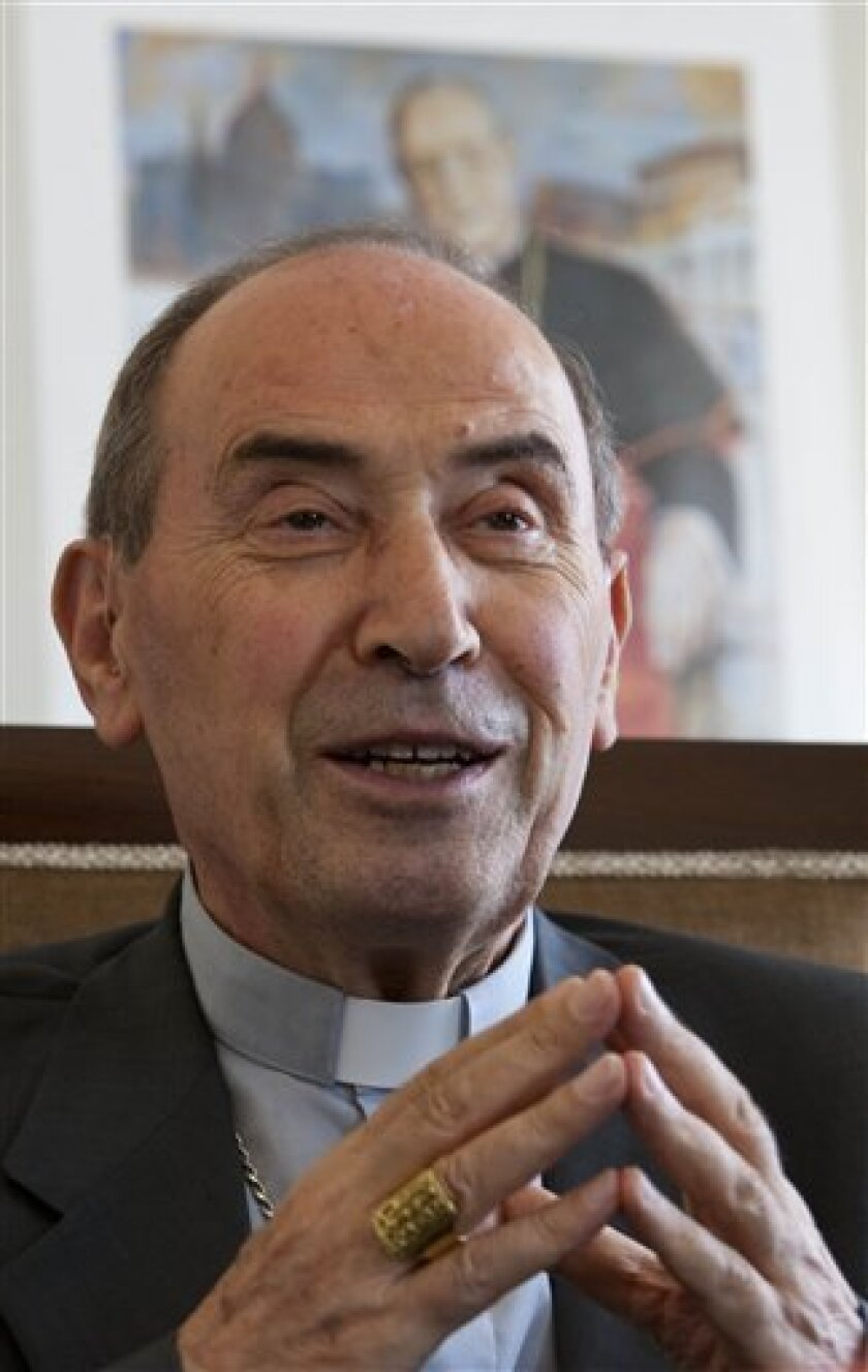 In this Aug. 25, 2011 photo, Cardinal Velasio De Paolis, papal delegate for the Legionaries of Christ, speaks during an interview with The Associated Press in Vatican City. When Pope Benedict XVI took over the disgraced Legionaries of Christ last year, expectations were high that heads would roll o