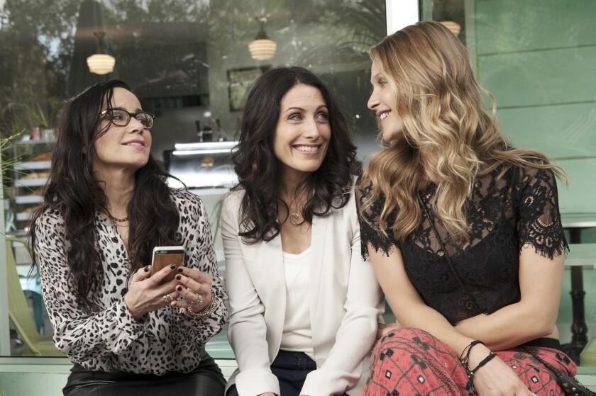 "Janeane Garofalo, from left, Lisa Edelstein and Beau Garrett in ""Girlfriends' Guide to Divorce."""