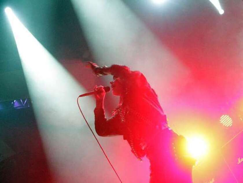 Sleigh Bells performs at the Mayan Theatre earlier this year.