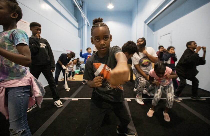 Boxing program at Nickerson Gardens in Watts
