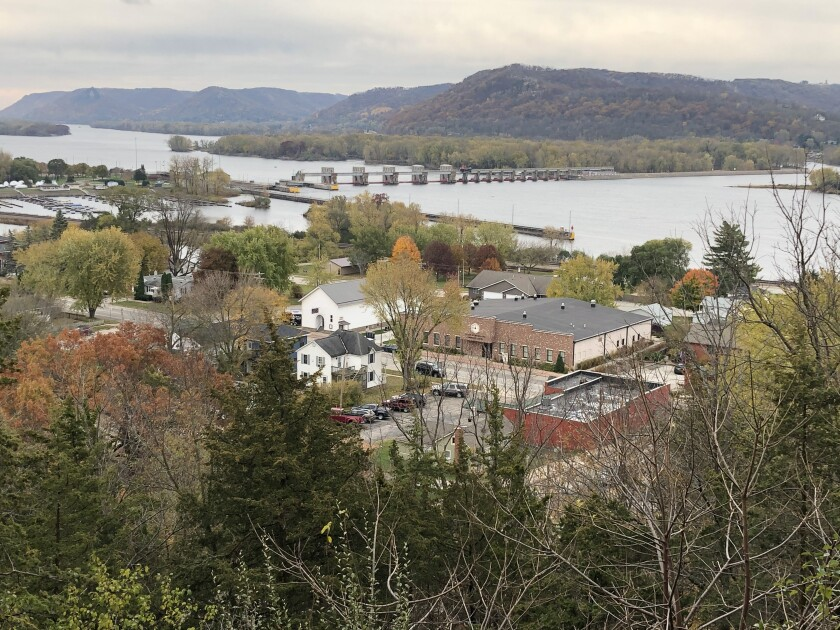 Trempealeau, a small Wisconsin town on the Mississippi River.