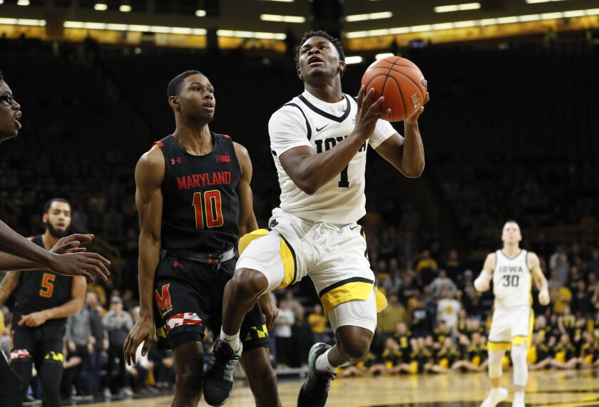 Maryland Iowa Basketball