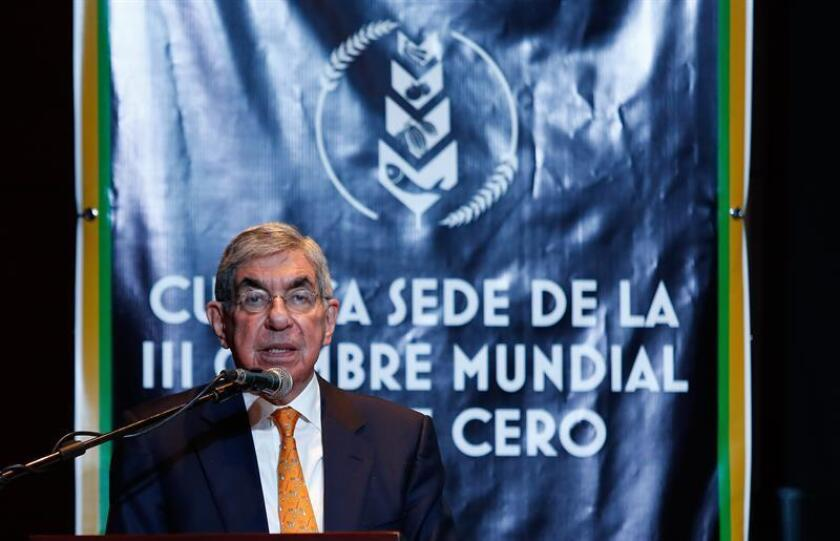 The former president of Costa Rica and recipient of the 1987 Nobel Peace Prize, Oscar Arias. EPA-EFE/File