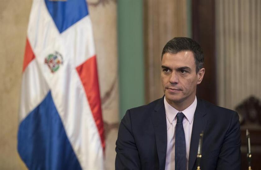 El presidente del Gobierno español, Pedro Sánchez, fue registrado hoy en Santo Domingo (República Dominicana). Sánchez viaja este miércoles a México para una visita oficial. EFE