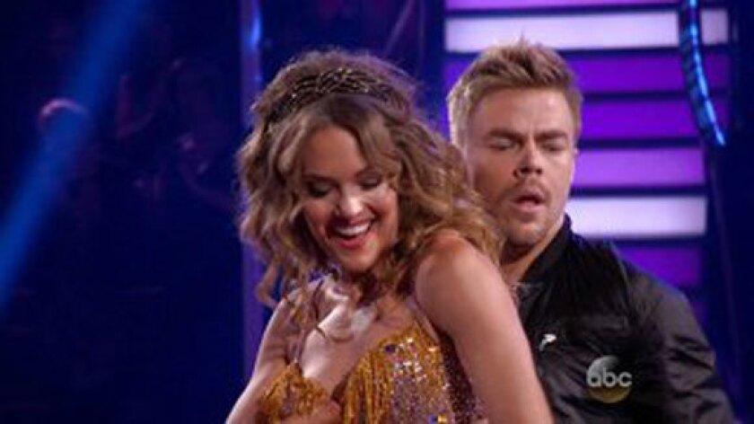 Amy Purdy dances with Derek Hough.