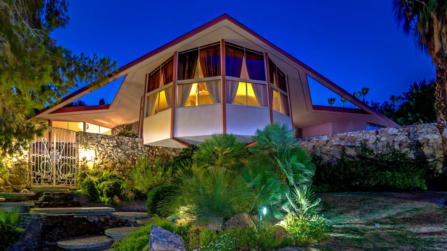 The Midcentury home, designed by William Krisel, is where Elvis and Priscilla Presley decamped to after their wedding in 1967.
