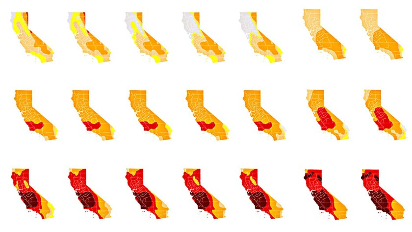 Much of California is mired in extreme and exceptional drought.