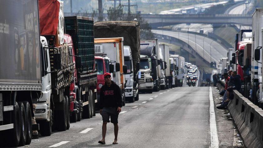 BRAZIL-ECONOMY-FUEL-STRIKE