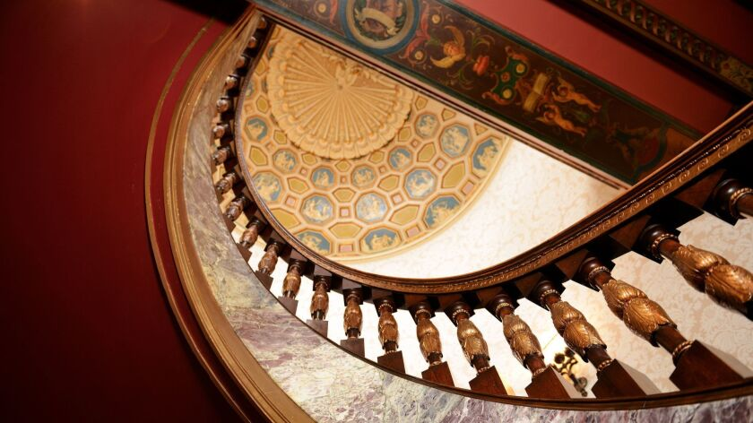 COLORADO SPRINGS, CO - An ornate spiral staircase fit for royalty is a centerpiece of the lobby at T