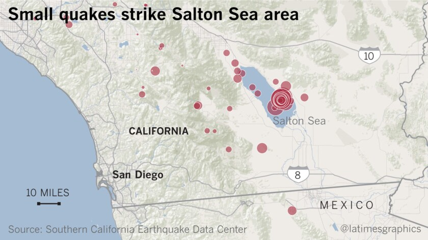 Almost 200 small earthquakes hit the Salton Sea area recently.