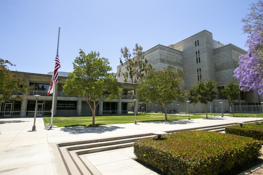 O.C. Sheriff's Department Headquarters and O.C. jails are at 550 N. Flower Street in Santa Ana.