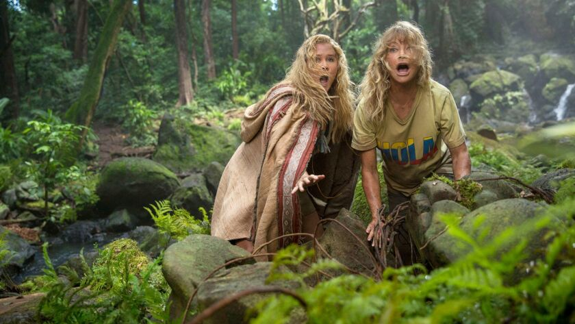 "Amy Schumer as Emily and Goldie Hawn as Linda in ""Snatched."""