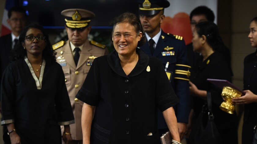 Princess Maha Chakri Sirindhorn, the most popular of the late Thai king's children, at a United Nations Food and Agriculture Organization meeting in Bangkok on Oct. 17, 2016.