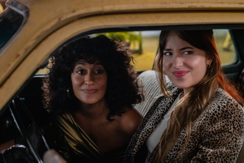 """Tracee Ellis Ross and Dakota Johnson in Focus Features' """"The High Note."""""""