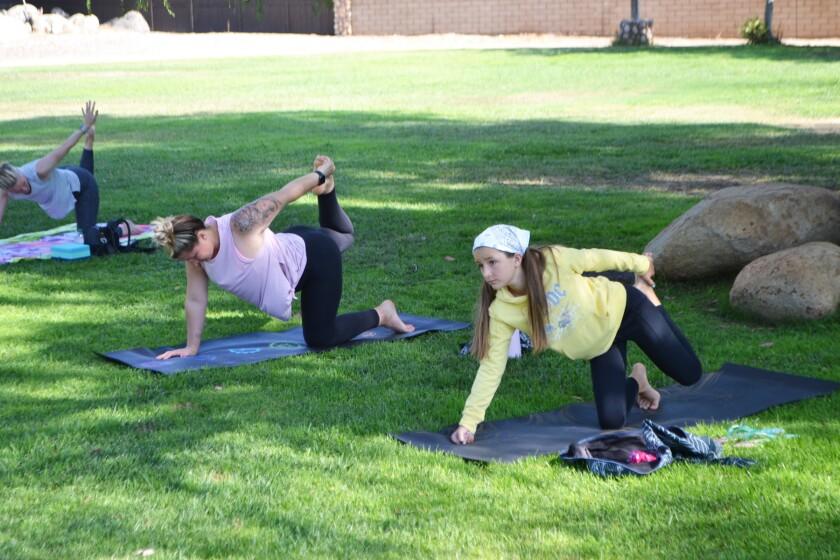 Yoga Studio First To Hold Class In Poway Park Pomerado News