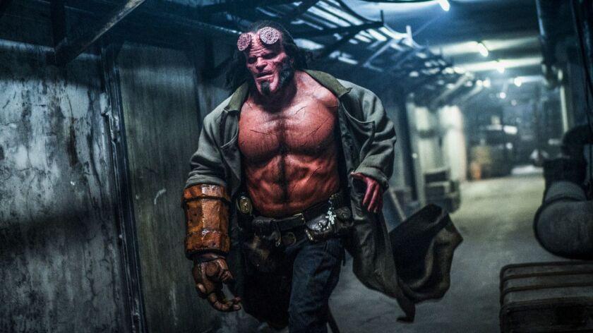 "David Harbour in ""Hellboy."""