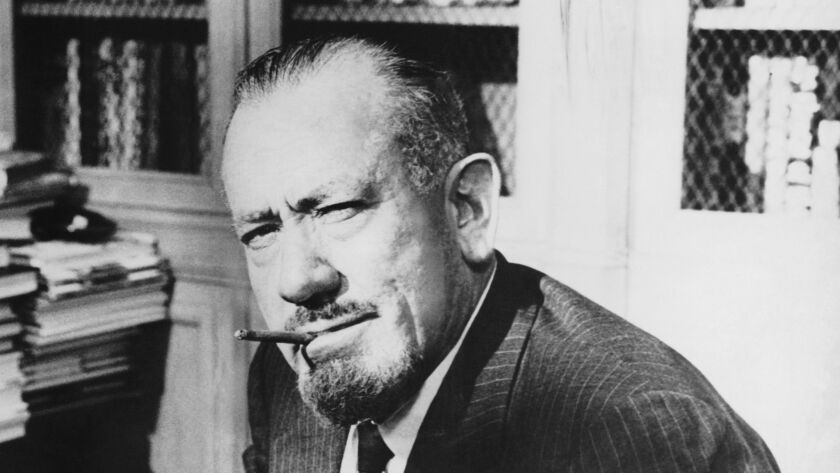 Author and Nobel Prize winner John Steinbeck, early 1960s.