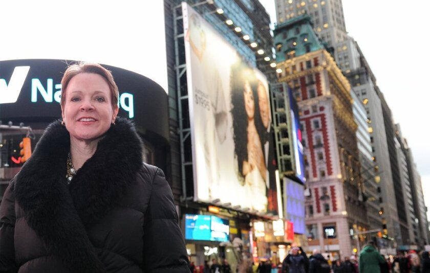 Rachel Moore, shown in a December 2014 photo in Manhattan, will be the next president of L.A.'s Music Center. It's being widely hailed as a good choice.