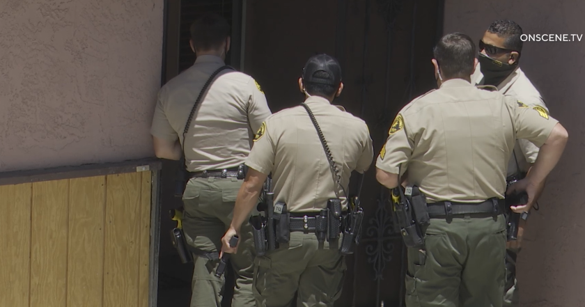 Sheriff's deputies searched a group home in Spring Valley.