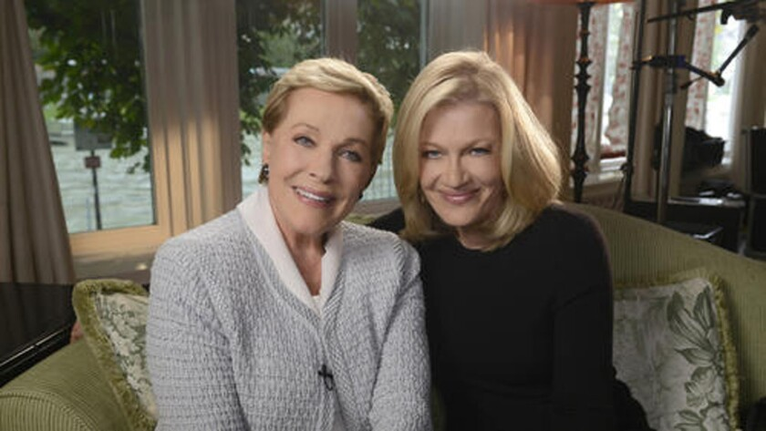 Julie Andrews, left, and Diane Sawyer spoke about the 50-year-old film in Salzburg, Austria.