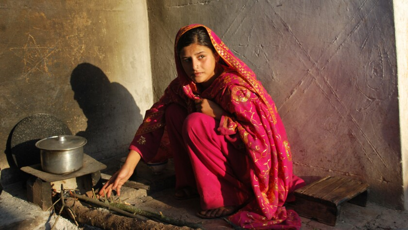 """Zarina, a former student in one of cleric Abdul Aziz's madrasas in the documentary """"Among the Believers."""""""