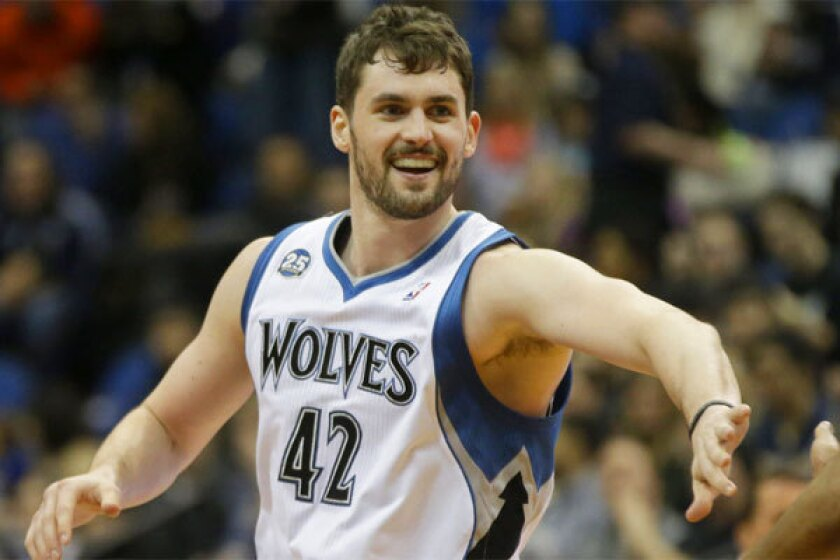 A trade for Minnesota's Kevin Love would help the Lakers' chances for a title during Kobe Bryant's final years in the league.