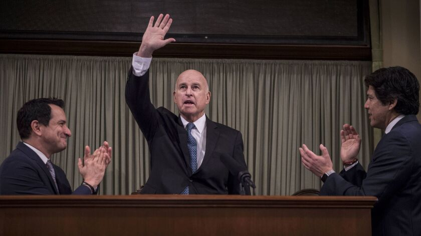 Gov. Jerry Brown delivers his final State of the State address Thursday.
