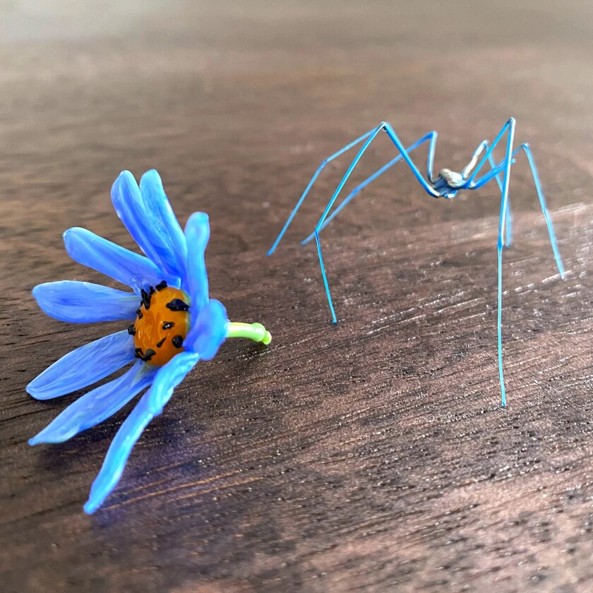 Flower and spider, Venetian glass wonders, bought in 2019.