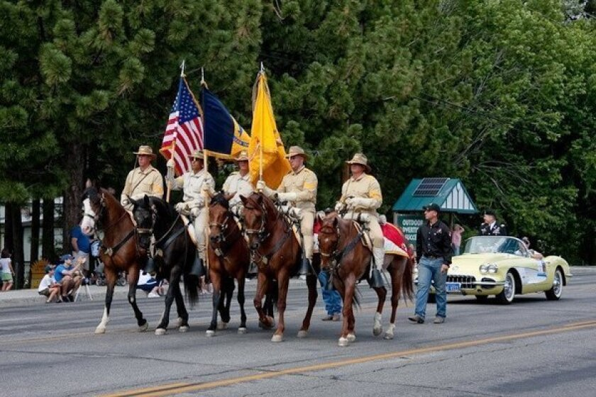 The Sheriff's Rangers Mounted Posse rides in the Old Miners Days Heritage Parade last year and will be back this year.
