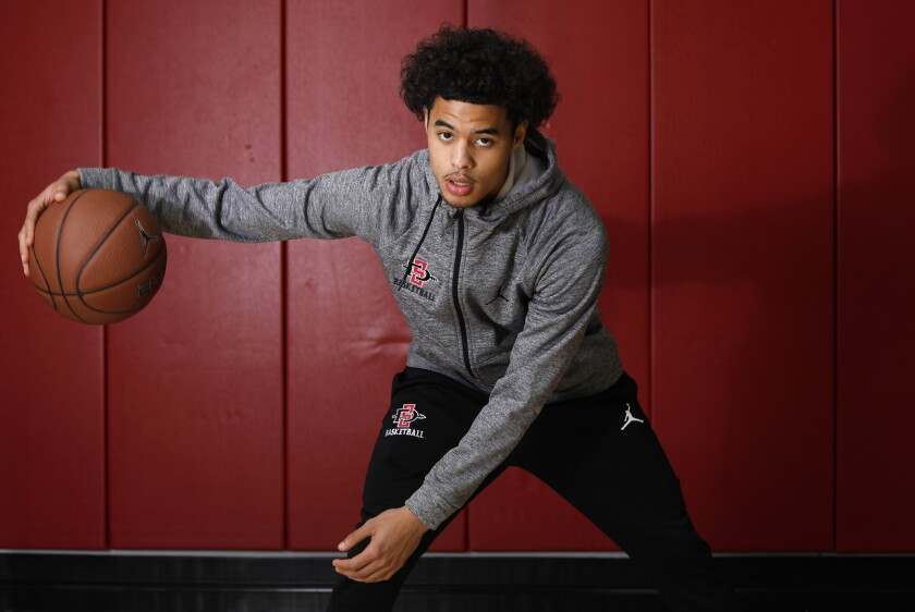 SDSU point guard Trey Pulliam has been playing his best basketball late in the season.