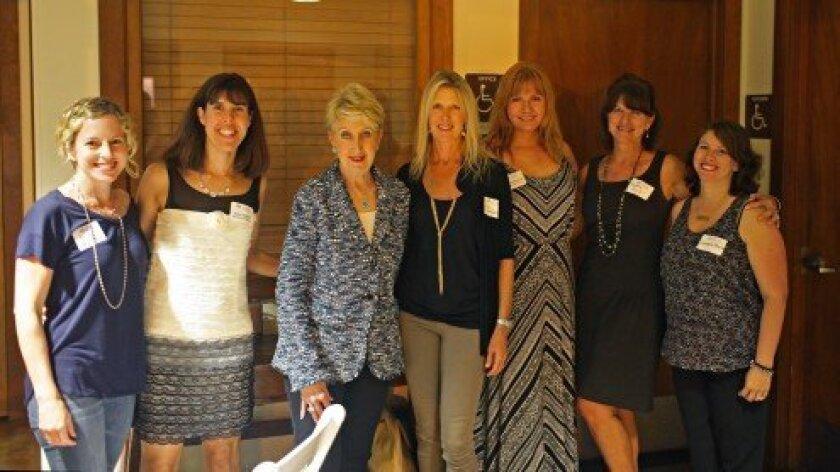 L-R: Erica Halpern, Kelley Huggett, Dr. Lee Hausner, Lisa Michaels, Karla Deerinck, Nadine Krich and Sandra Hoyle.