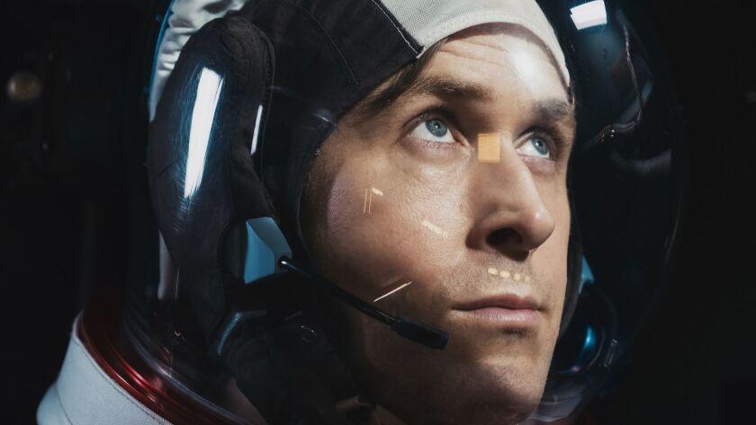 "RYAN GOSLING as Neil Armstrong in ""First Man,"" directed by Oscar-winning filmmaker Damien Chazelle ("
