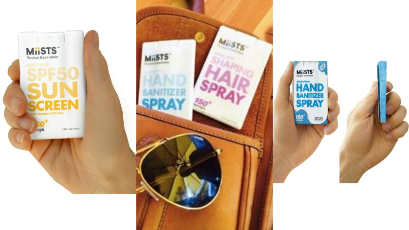 Miists Personal Care Sprays stash unobtrusively pretty much anywhere.