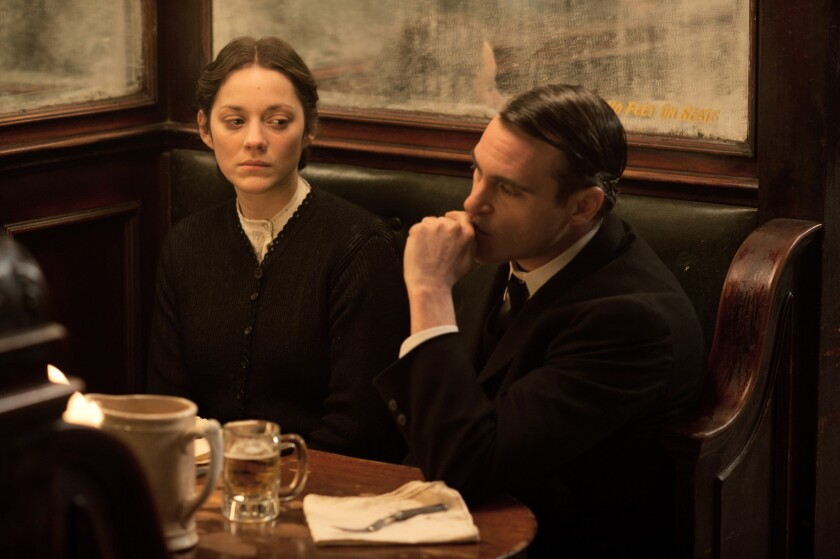 """Marion Cotillard and Joaquin Phoenix in """"The Immigrant."""""""