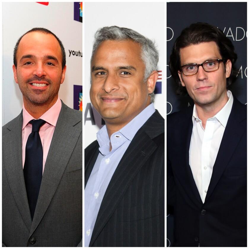 MRC executives Modi Wiczyk and Asif Satchu and Penske Media Corp. chief executive Jay Penske