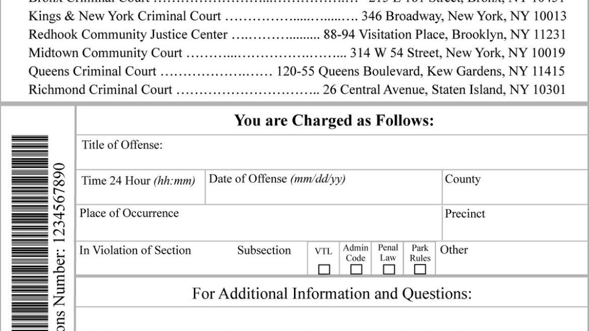 NYC making tickets for low-level crimes harder to ignore