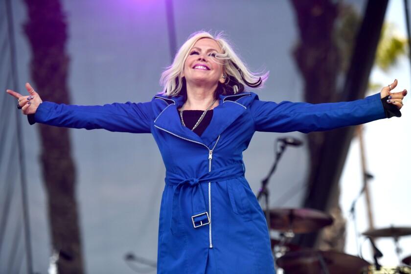 Singer Terri Nunn performs in Redondo Beach in 2019.