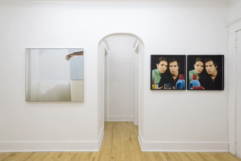 Paul Soto has started Park View, a gallery in his 300-square-foot apartment in the Westlake-MacArthur Park neighborhood. The most recent show featured work by photographers such as Uta Barth, left, and Barbara Probst.