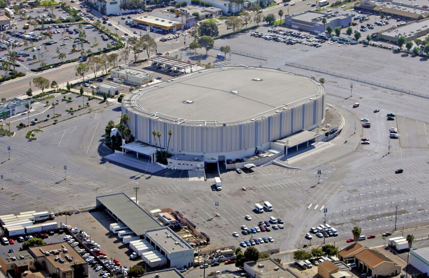 The San Diego sports arena site