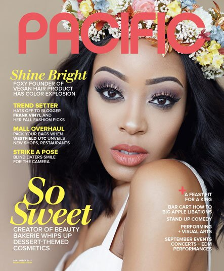 Cashmere Nicole, founder of Beauty Bakerie, on the cover of PACIFIC's September issue.