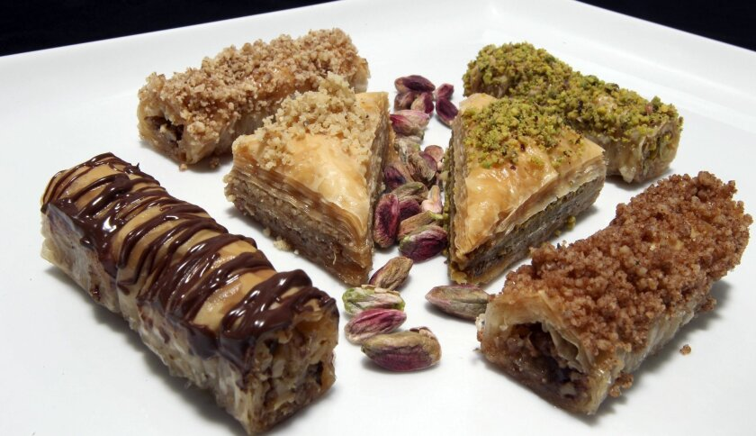 A variety of the baklava sold at Santee's Baklava King bakery.