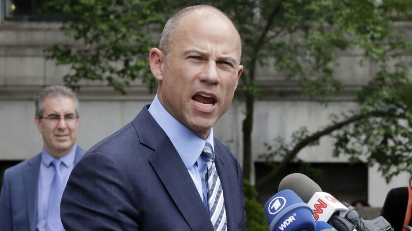 Michael Avenatti outside federal court in New York in May.