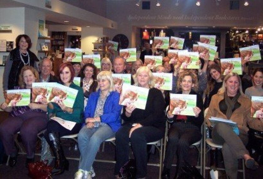 Jenny Craig (left) with the audience at the Oct. 24 champagne reception and book signing event held at Warwick's. (Photo/Diane Welch