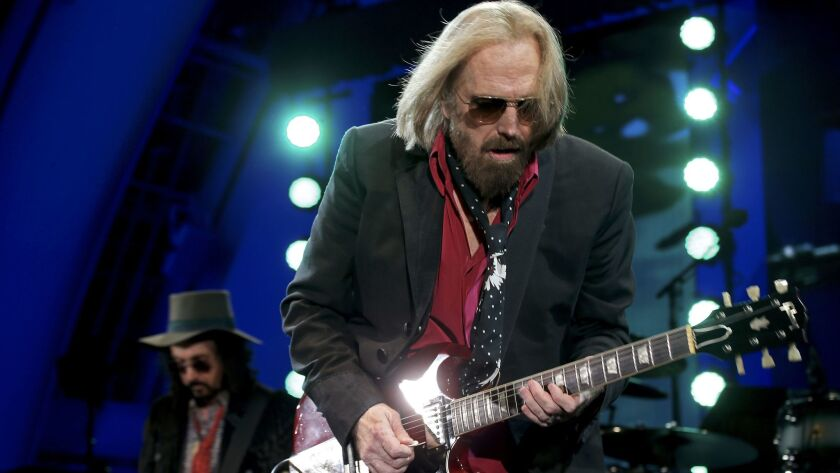 HOLLYWOOD, CALIF. - SEP. 21, 2017. Legedary classic rocker Tom Petty performs with the Heartbreake